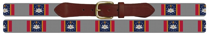 Mississippi Flag Needlepoint Belt