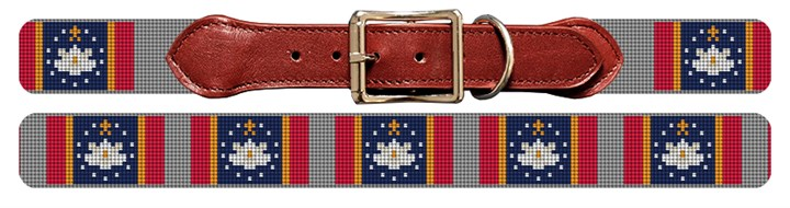 Mississippi Flag Needlepoint Dog Collar Canvas