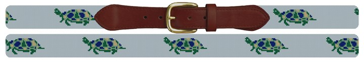 Sea Turtle Needlepoint Belt