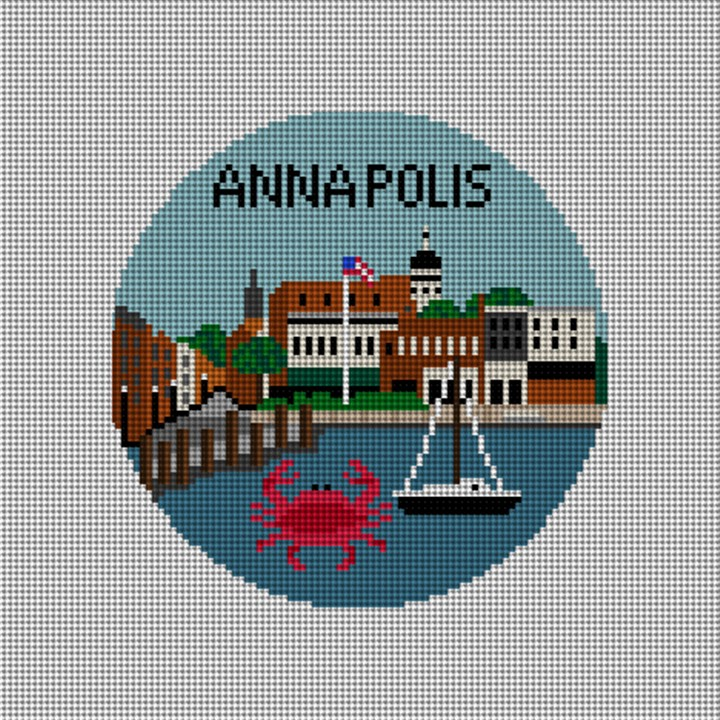 Annapolis Needlepoint Ornament Canvas
