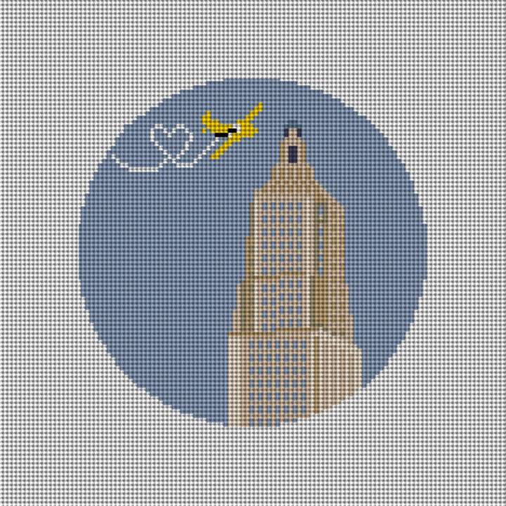Empire State Building Needlepoint Ornament Canvas