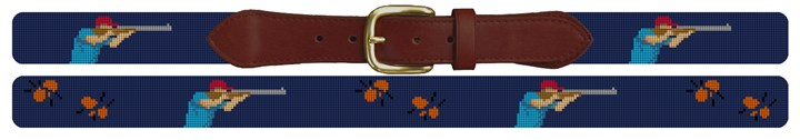 Sporting Clays Needlepoint Belt