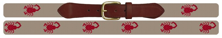 Scorpion Needlepoint Belt