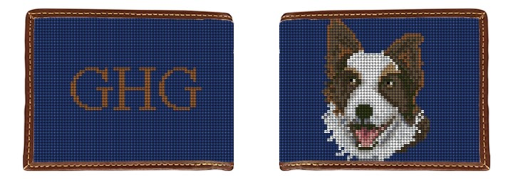 Border Collie Needlepoint Wallet