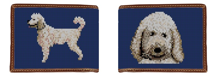 Poodle Needlepoint Wallet