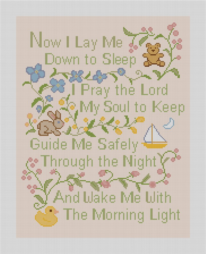 Classic Prayer Needlepoint Canvas