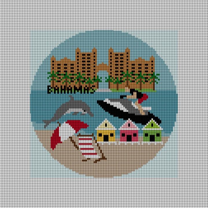Bahamas Needlepoint Ornament Canvas