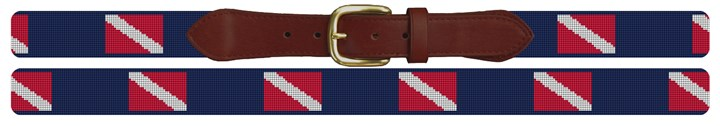 Scuba Diving Flag Needlepoint Belt Canvas