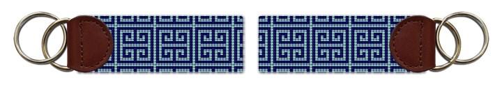 Classic Geometry Needlepoint Key Fob Canvas