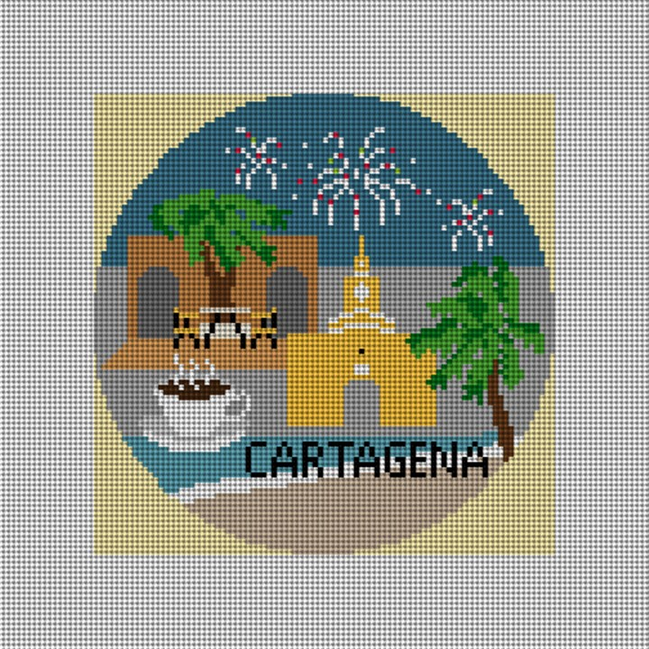 Cartagena Needlepoint Ornament Canvas