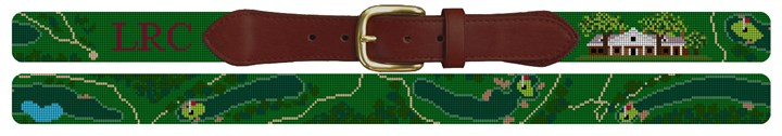 Little Rock Country Club Golf Course Needlepoint Belt