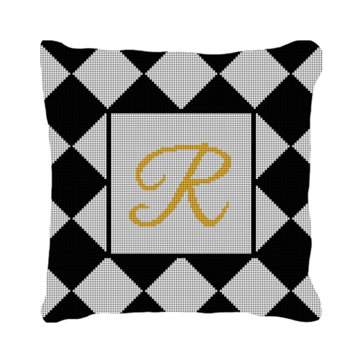 Harlequin Wedding Needlepoint Pillow