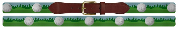 Golf Ball Needlepoint Belt Canvas