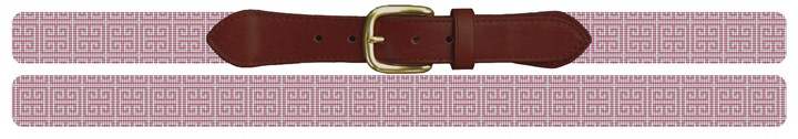 Pink Geometry Needlepoint Belt Canvas