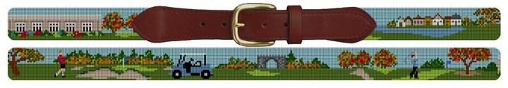 Kernwood Country Club Golf Course Needlepoint Belt