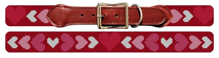 Be My Valentine Needlepoint Dog Collar