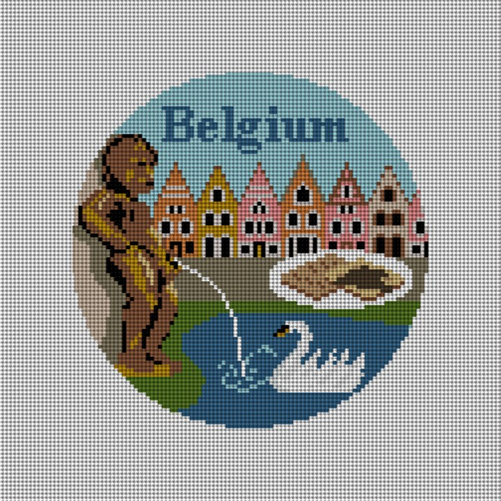 Belgium Needlepoint Ornament Canvas