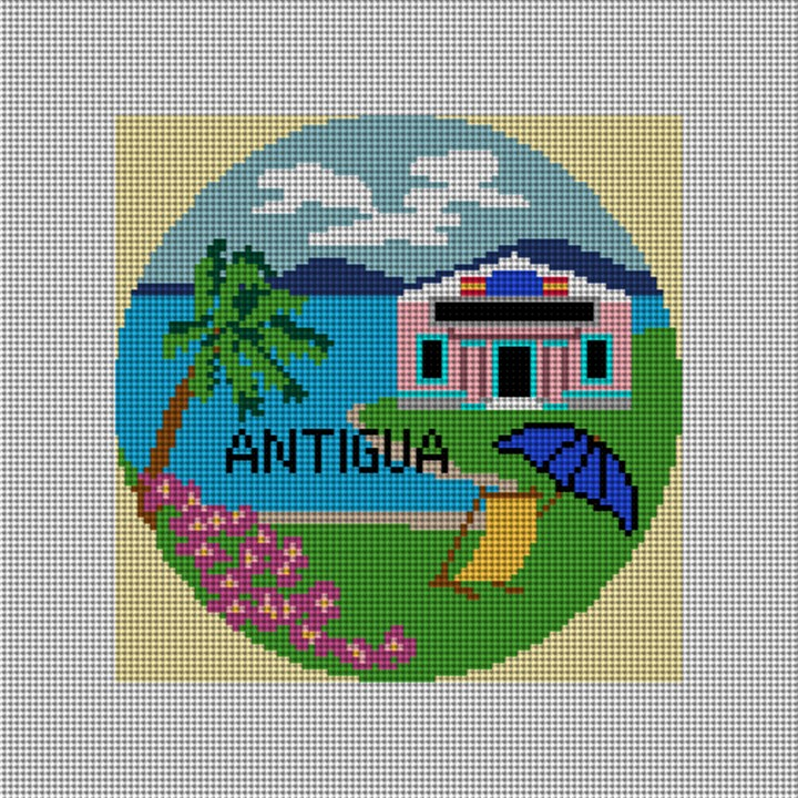 Antiqua Needlepoint Ornament Canvas