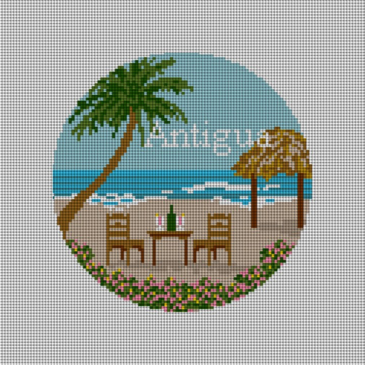 Antigua Paradise Needlepoint Ornament Canvas