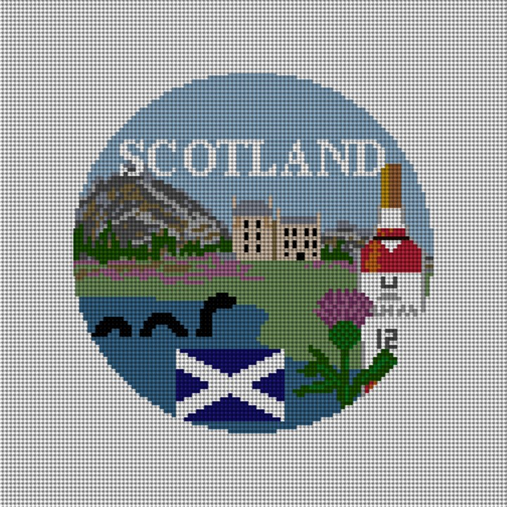Scotland Needlepoint Ornament Canvas