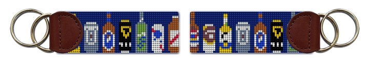 Beer Collection Needlepoint Key Fob Canvas