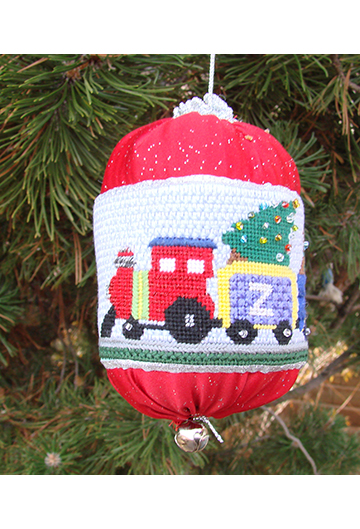 Train - Personalized Needlepoint Ornament