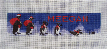 Personalized Penguin Needlepoint Ornament