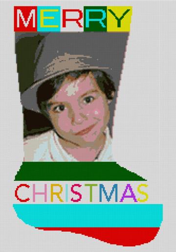 Custom Needlepoint Christmas Stocking Canvas