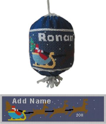Personalized Santa Needlepoint Ornament Kit